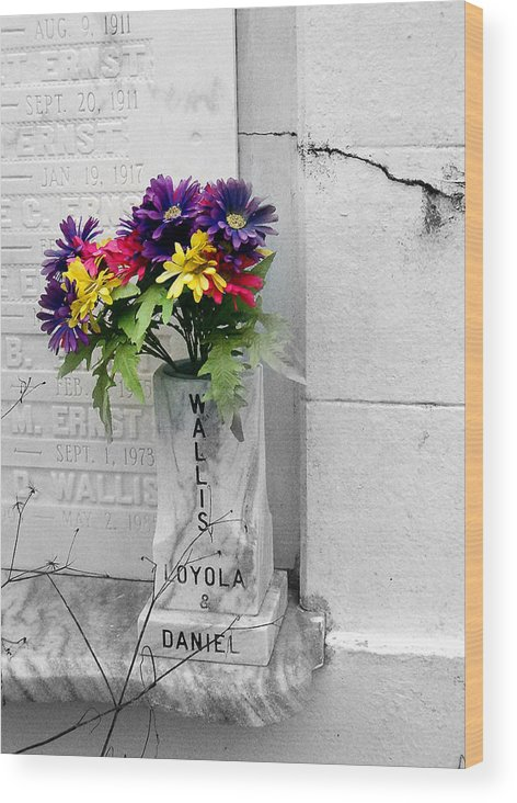 Flowers Wood Print featuring the photograph Lafayette No One Bouquet by Heather S Huston