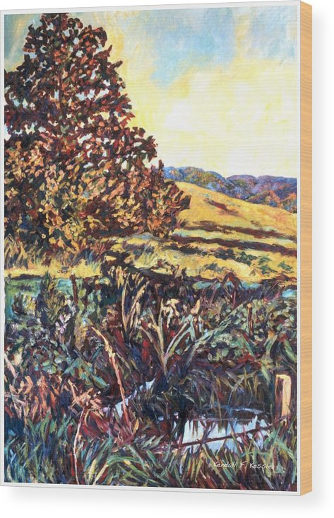 Landscape Wood Print featuring the painting Near Childress by Kendall Kessler