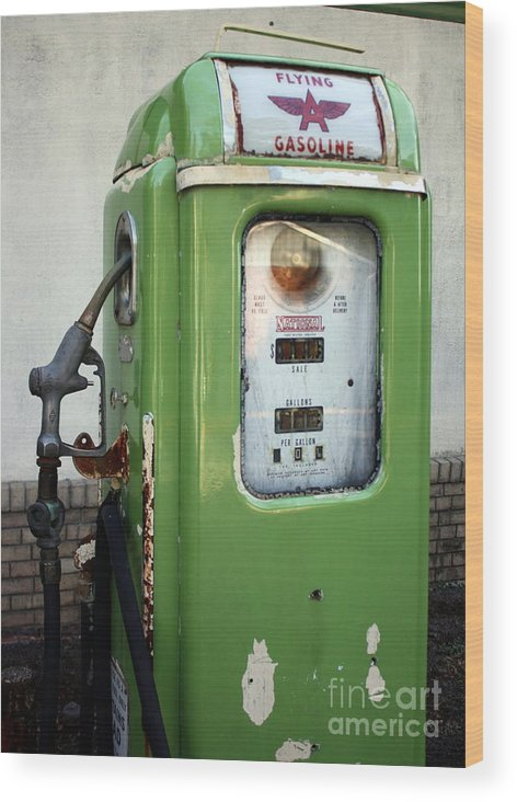 Gasoline Wood Print featuring the photograph Old National Gas Pump by DazzleMePhotography