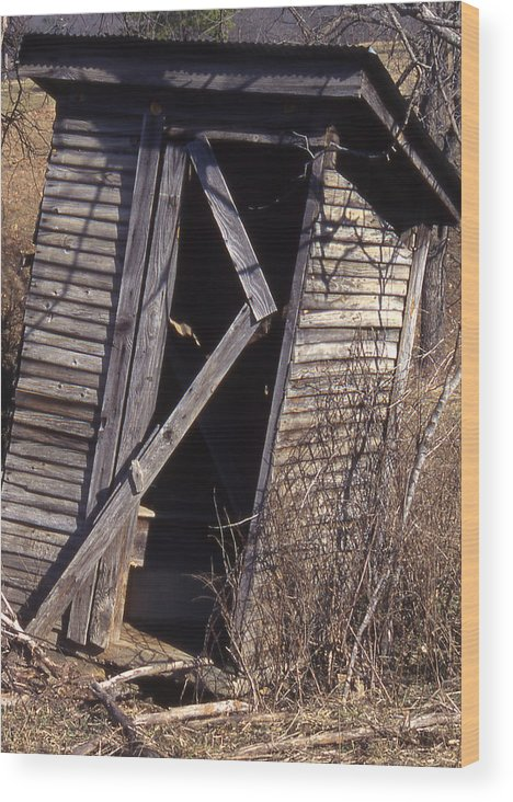 Wood Print featuring the photograph Outhouse1 by Curtis J Neeley Jr