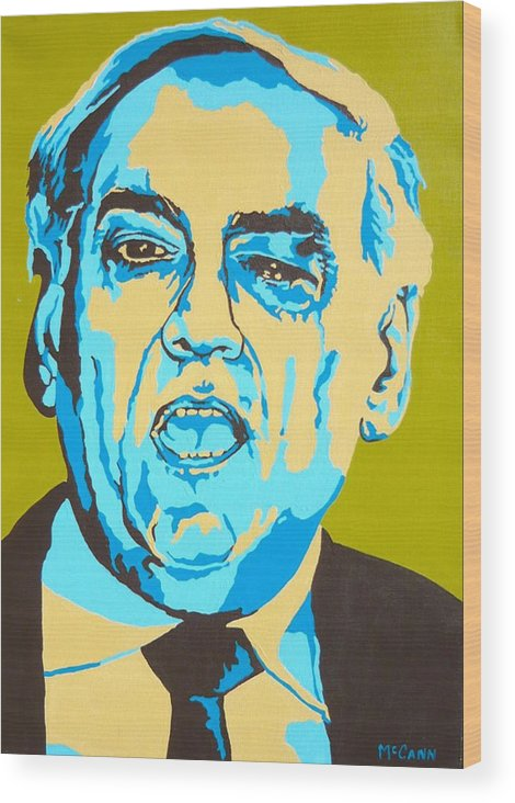 Politics Wood Print featuring the painting Perle by Dennis McCann