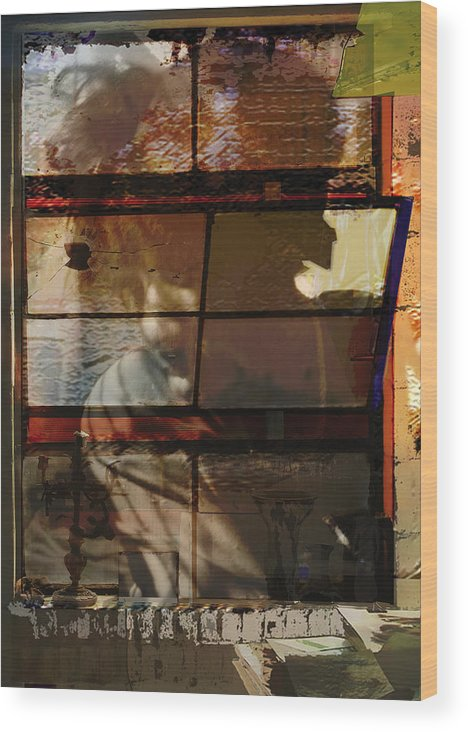 Window Wood Print featuring the digital art Reflections And Memories by Xavier Carter
