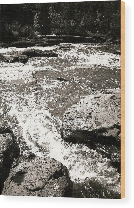 Photograph Wood Print featuring the photograph River Coming Your Way by Patricia Bigelow