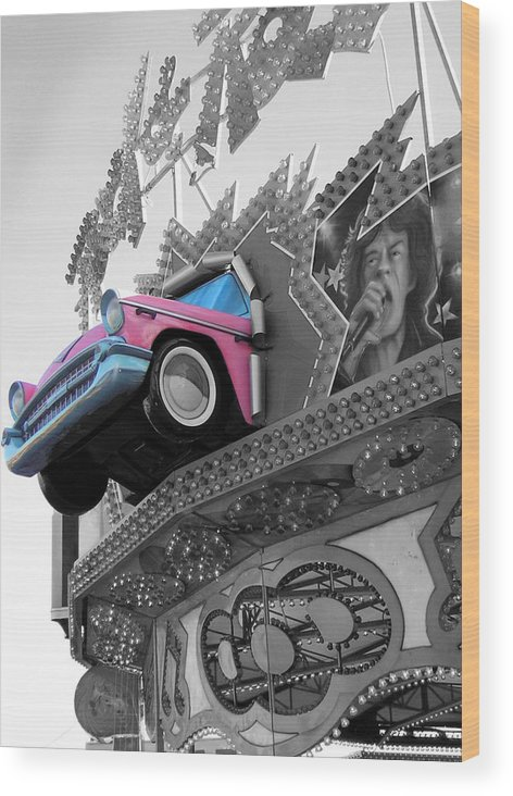 Amusement Park Wood Print featuring the photograph Rock N Roll by Heather Weikel