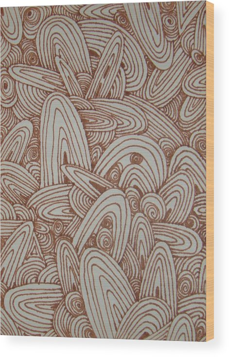 Brown Wood Print featuring the drawing See Study Fifteen by Ana Villaronga