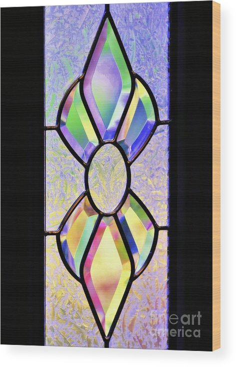 Still Life Wood Print featuring the photograph Stained Glass Watercolor by Diann Fisher