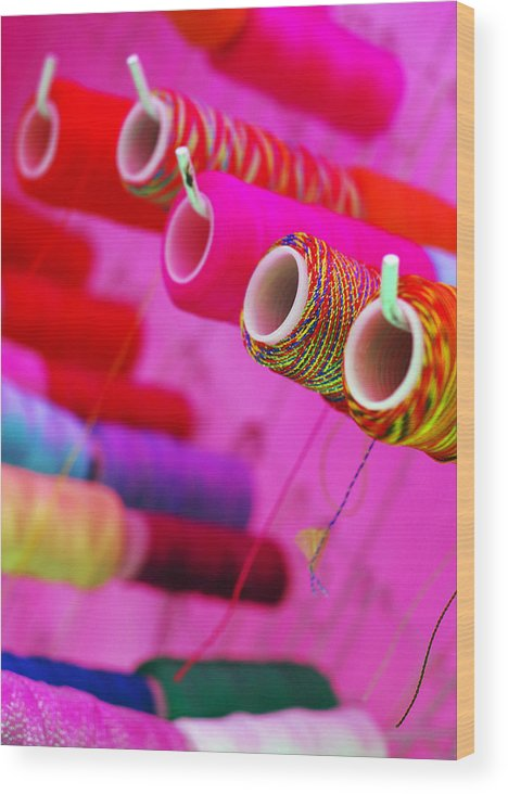 Color Wood Print featuring the photograph String Theory by Skip Hunt
