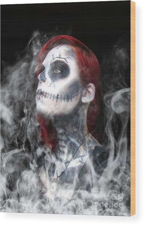 Death Wood Print featuring the photograph Submission by Smart Aviation