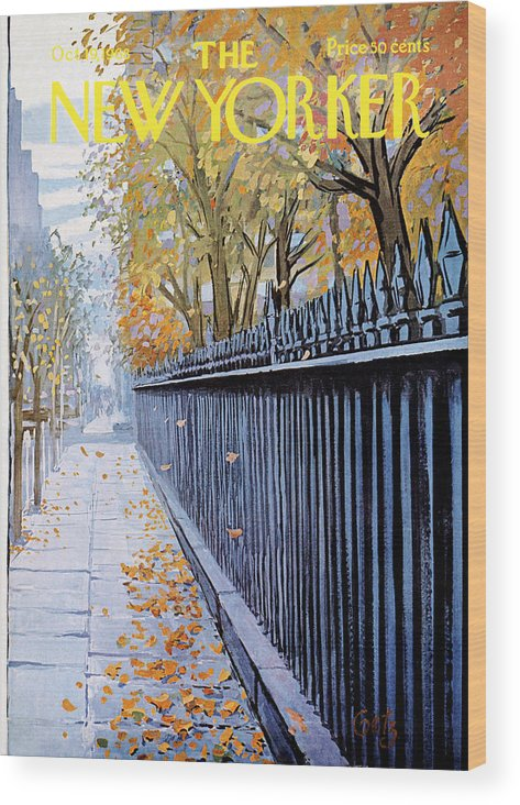 Season Wood Print featuring the painting Autumn In New York by Arthur Getz