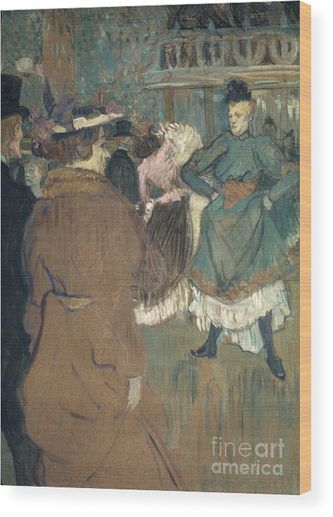 1892 Wood Print featuring the photograph Toulouse-lautrec, 1892 by Granger