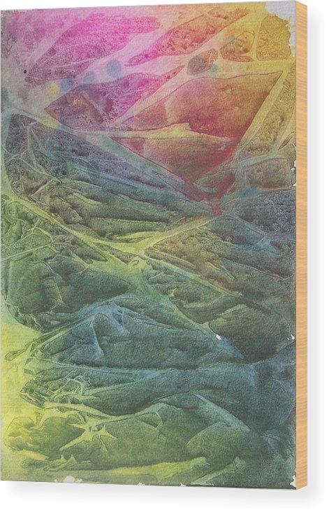 Colors Wood Print featuring the painting Vaarn by Jackie Mueller-Jones
