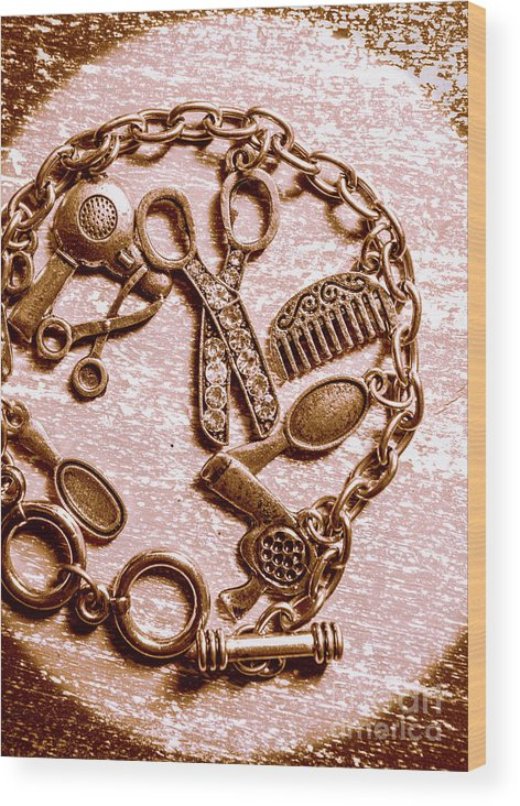 Grooming Wood Print featuring the photograph Vintage Hairdressing Charm by Jorgo Photography - Wall Art Gallery