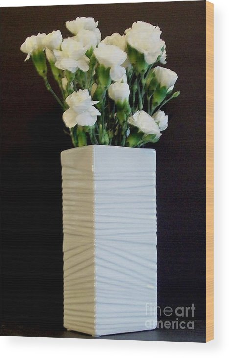 Flowers Wood Print featuring the photograph White In White by Marsha Heiken
