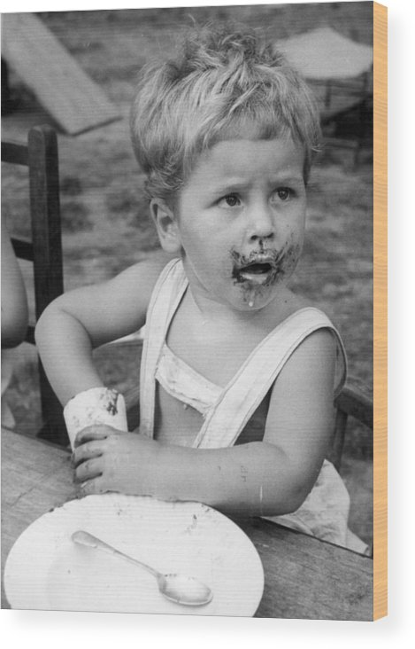 4-5 Years Wood Print featuring the photograph Chocolate Face by William Vanderson