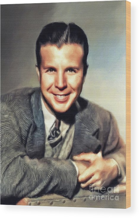 Dick Wood Print featuring the painting Dick Powell, Vintage Actor by John Springfield