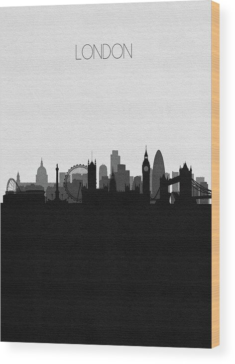 London Wood Print featuring the digital art London Cityscape Art by Inspirowl Design