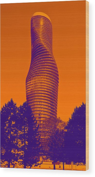 Art Wood Print featuring the photograph Absolute Tower by Les Lorek