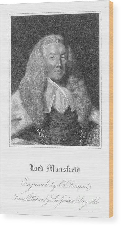 18th Century Wood Print featuring the photograph William Murray (1705-1793) by Granger