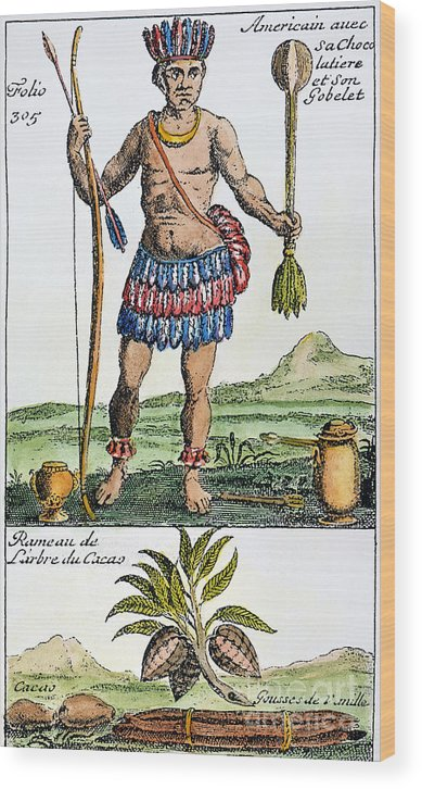 1685 Wood Print featuring the photograph Aztec: Chocolate, 1685 by Granger