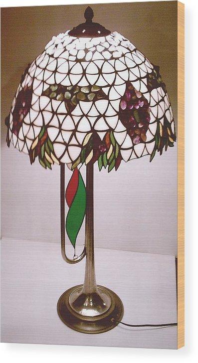 Glass Wood Print featuring the glass art Boris Godunov Lamp by Greg Gierlowski