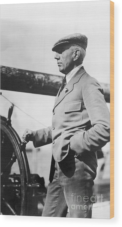 1920 Wood Print featuring the photograph Roald Amundsen (1872-1928) by Granger