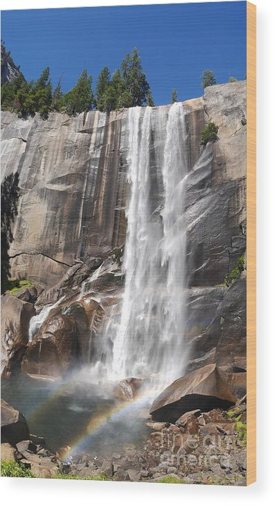 Nps Wood Print featuring the photograph The Beautiful Venral Fall by Chon Kit Leong