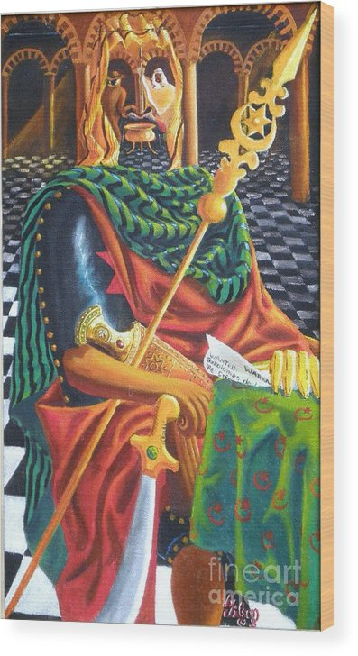 Still-life; Interior Wood Print featuring the painting The Moorish General Othello by David G Wilson