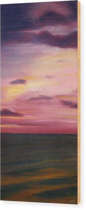 Sunrise Wood Print featuring the painting Chesapeake Skyscape by Gary Jameson