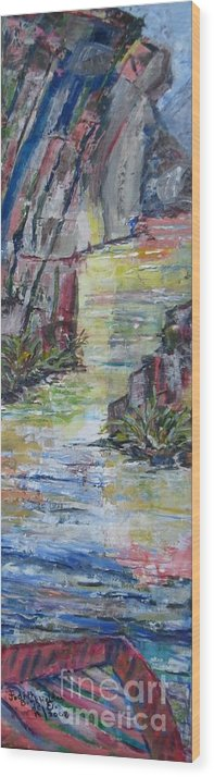 River Wood Print featuring the painting The Gorge by Judith Espinoza
