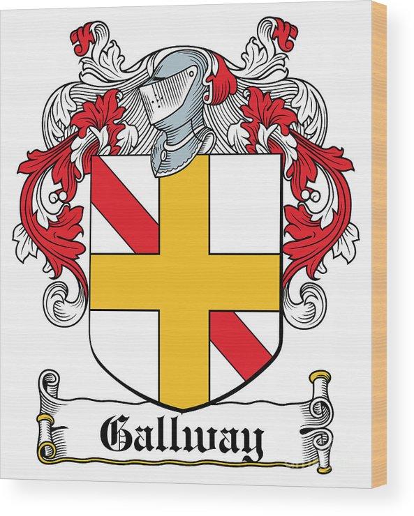 Gallway Wood Print featuring the digital art Gallway Coat Of Arms Irish by Heraldry