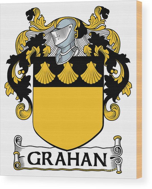 Grahan Wood Print featuring the digital art Grahan Coat Of Arms Irish by Heraldry