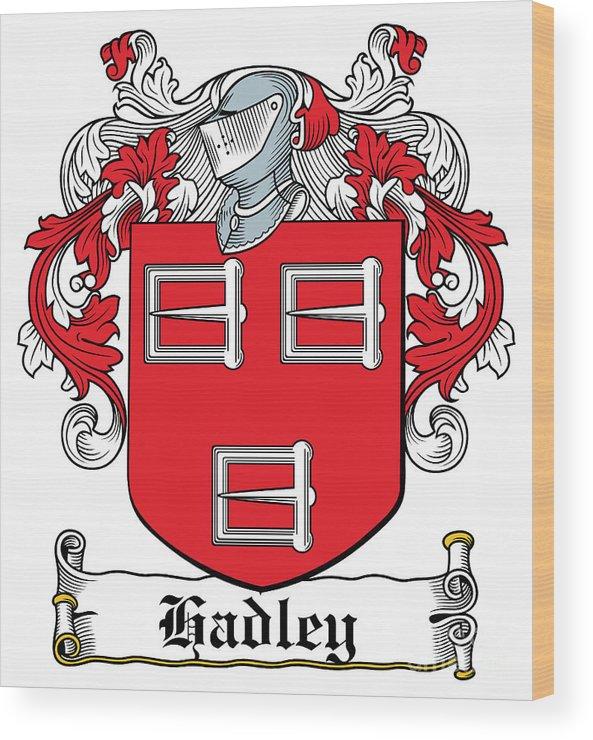 Hadley Wood Print featuring the digital art Hadley Coat Of Arms Irish by Heraldry