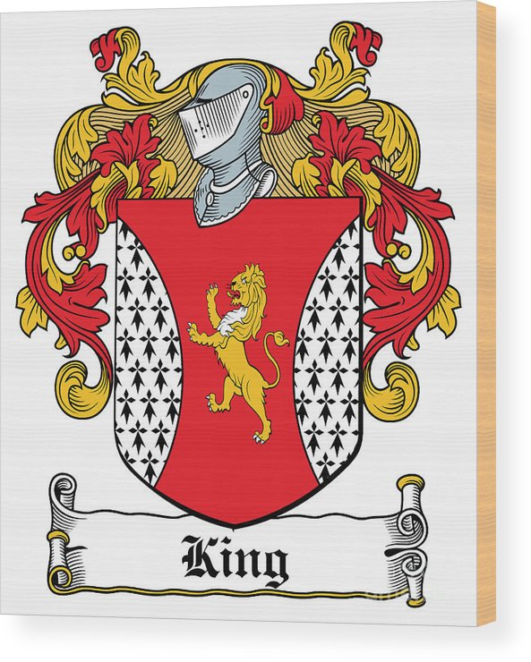 King Wood Print featuring the digital art King Coat Of Arms I Dublin by Heraldry