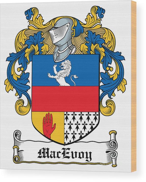 Macevoy Wood Print featuring the digital art Macevoy Coat Of Arms Meath Ireland by Heraldry