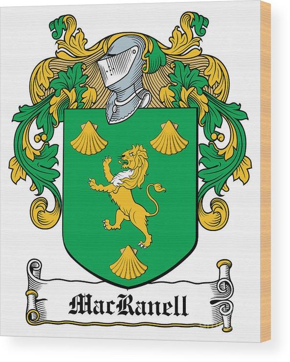 Macranell Wood Print featuring the digital art Macranell Coat Of Arms Leitrim Ireland by Heraldry