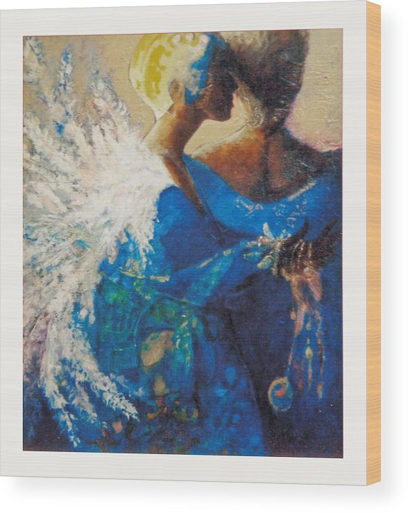 Figure Wood Print featuring the painting She Who Whispers by Dale Witherow