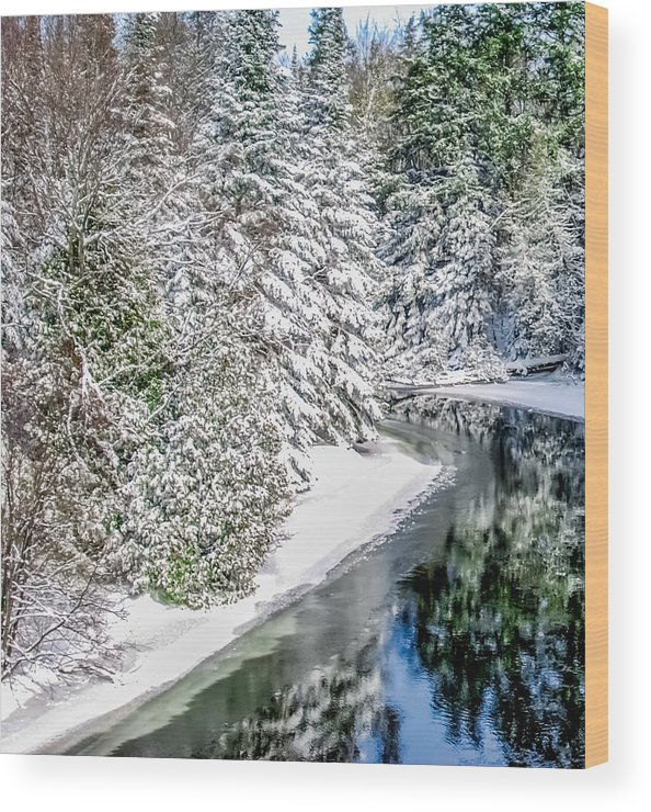Manistee River Wood Print featuring the photograph The Manistee River by Optical Playground By MP Ray