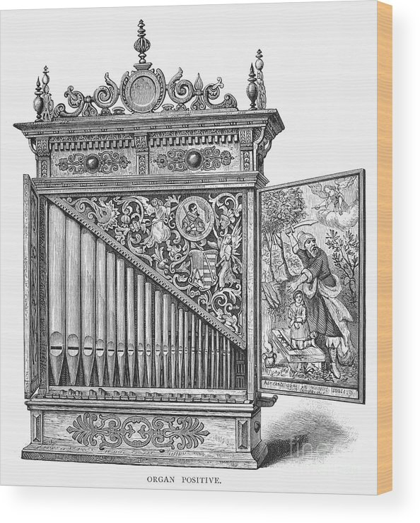 Abraham Wood Print featuring the photograph Organ Positive by Granger