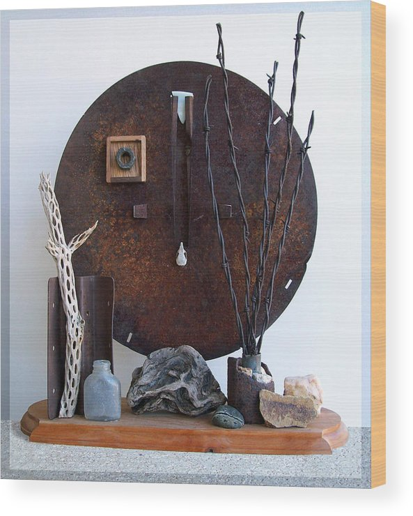 Assemblage Sculptures Wood Print featuring the sculpture Warzawa by Snake Jagger