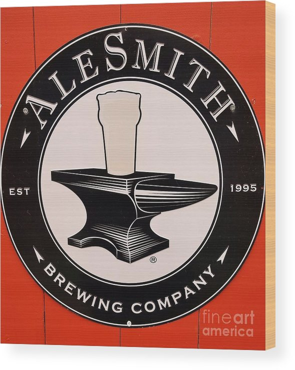 Sign Art Beverage Beer Fastnet Yard Advertising Logo Bar Art Craft Ale Enjoyment Taste Newport Alesmith Product Metal Frame Canvas Print Poster Print Available On T Shirts Tote Bags Phone Cases Shower Curtains Duvet Covers Greeting Cards Mugs And Phone Cases Wood Print featuring the photograph Alesmith Sign, Newport R. I. by Poet's Eye