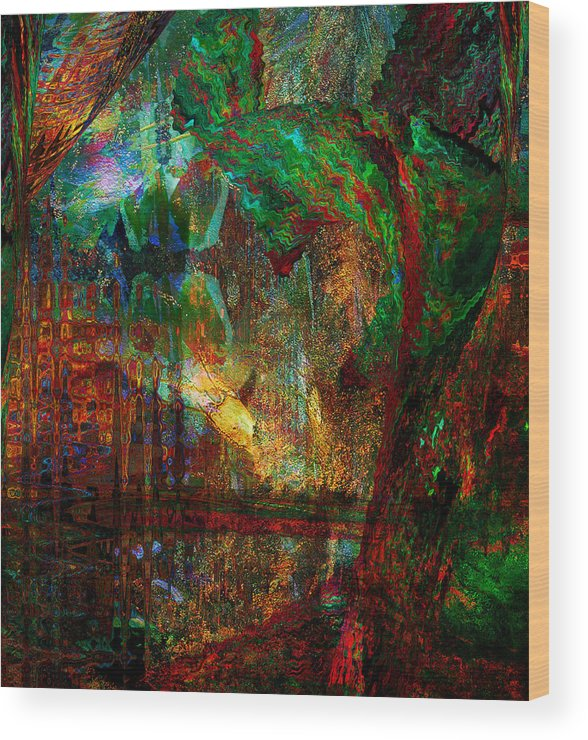 Enchanted Evening Wood Print featuring the photograph Enchanted Evening by Linda Murphy