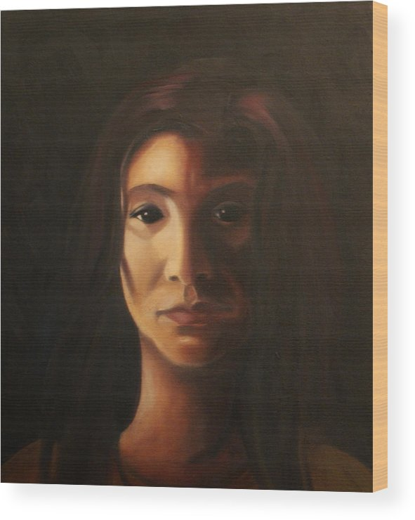 Woman In The Dark Wood Print featuring the painting Endure by Toni Berry