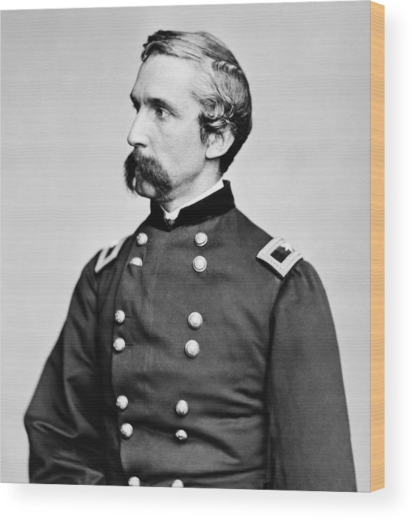 Joshua Lawrence Chamberlain Wood Print featuring the photograph General Joshua Chamberlain by War Is Hell Store