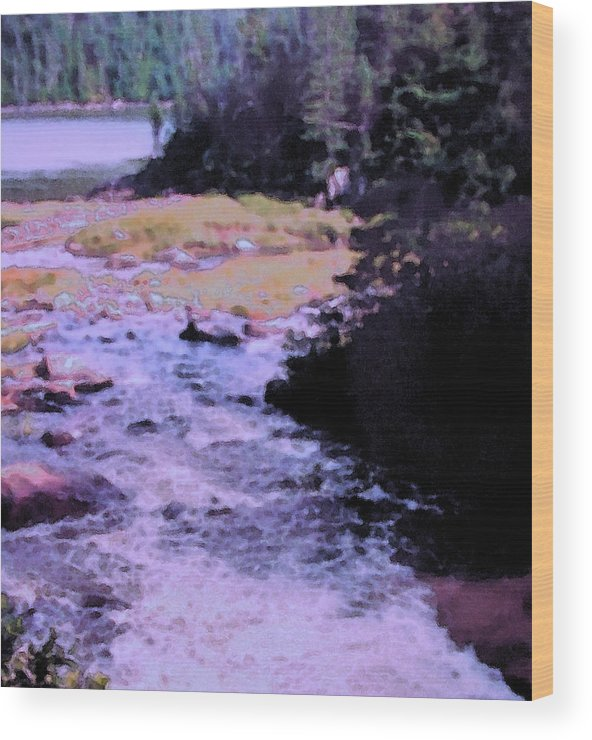 Quebec Wood Print featuring the photograph Quebec River by Ian MacDonald