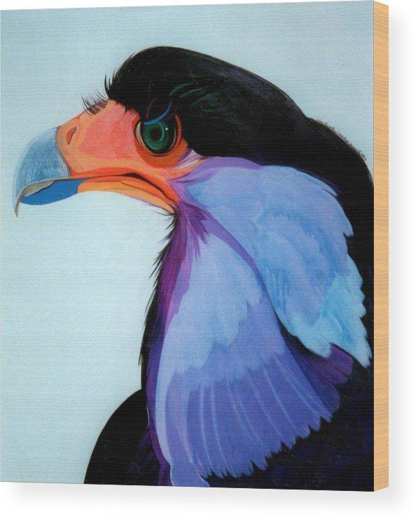 Raptor Wood Print featuring the painting Raptor 5 by Marlene Burns