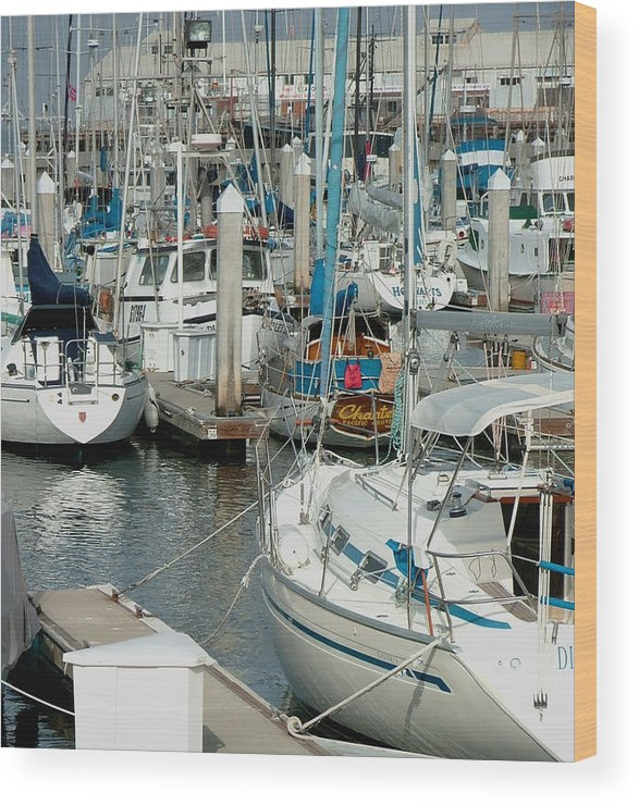 Boats Wood Print featuring the photograph Tied Up by Donna Thomas