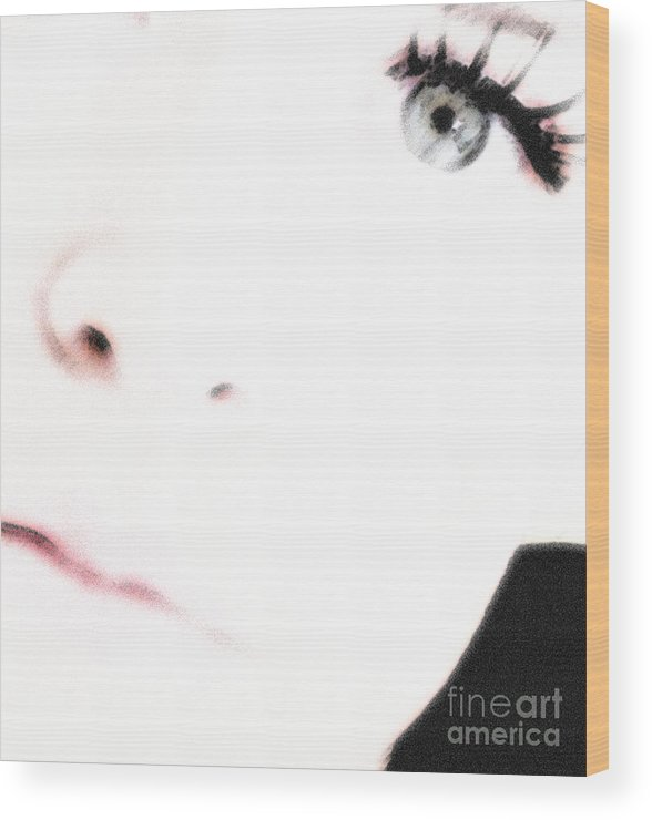 Face Wood Print featuring the photograph Where Is The Soul by Amanda Barcon