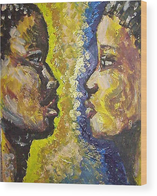 Wood Print featuring the painting You And I by Jan Gilmore