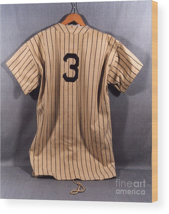 Baseball Uniform Wood Print featuring the photograph National Baseball Hall Of Fame Library 194 by National Baseball Hall Of Fame Library
