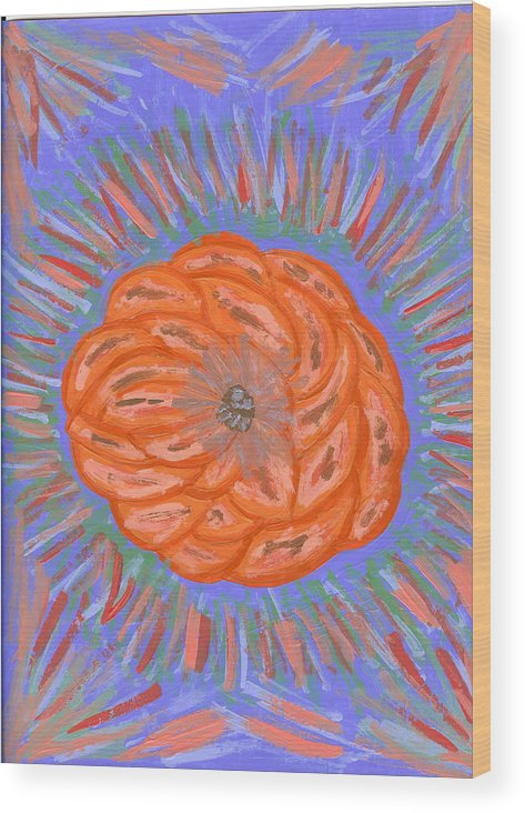 Flower Wood Print featuring the painting Starburst by Laura Lillo